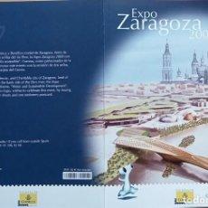 Sellos: CARPETA ALBUM EXPO ZARAGOZA 2008 COLECCION TEMATICA 1. Lote 230226665