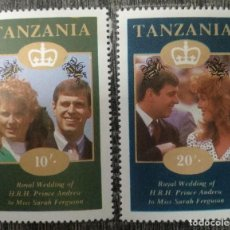 Sellos: TANZANIA. ROYAL WEDDING PRINCE ANDREU MISS SARAH FERGUSON. Lote 230461090