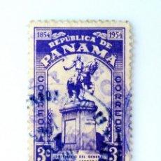 Sellos: SELLO POSTAL PANAMA 1954, 3 C ,CENTENARIO DEL GENERAL TOMAS HERRERA, USADO. Lote 231185130