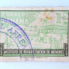 Sellos: SELLO POSTAL PANAMA 1959, 1 C , INSTITUTO DE REHABILITACIÓN DE MENORES, USADO. Lote 231193155