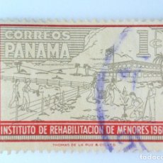 Sellos: SELLO POSTAL PANAMA 1960, 1 C , INSTITUTO DE REHABILITACIÓN DE MENORES, USADO. Lote 231196560