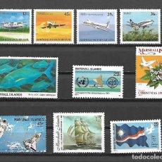 Sellos: ALTO VALOR CATALOGO PEQUEÑA COLECION DE SERIES NUEVAS PERFECTAS DE COLONIA INGLESA MARSHALL ISLANDS. Lote 233748600