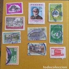 Sellos: 10 SELLOS USADOS, AÑOS 50 DE PANAMA. Lote 234921585