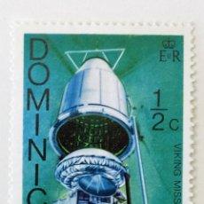 Sellos: SELLO DE DOMINICA 1/2 C - 1976 - NAVE VIKING - NUEVO SIN SEÑAL DE FIJASELLOS. Lote 235517735