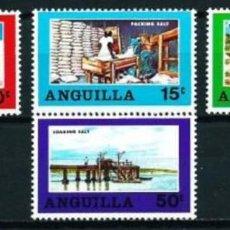 Sellos: ANGUILLA 1969 - INDUSTRIA DE LA SAL - YVERT Nº 33/36**. Lote 235820235