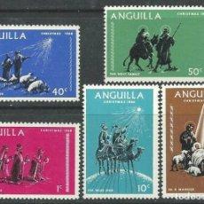 Sellos: ANGUILLA 1968 - NAVIDAD - YVERT Nº 28/32**. Lote 235821115