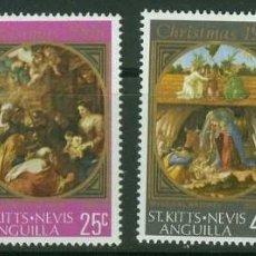 Sellos: ST KITTS - NEVIS - ANGUILLA 1968 - NAVIDAD - YVERT Nº 216/219**. Lote 235822690