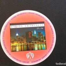 Sellos: NACIONES UNIDAS NUEVA YORK Nº YVERT HB 23*** AÑO 2002.ONUSIDA. Lote 236270250