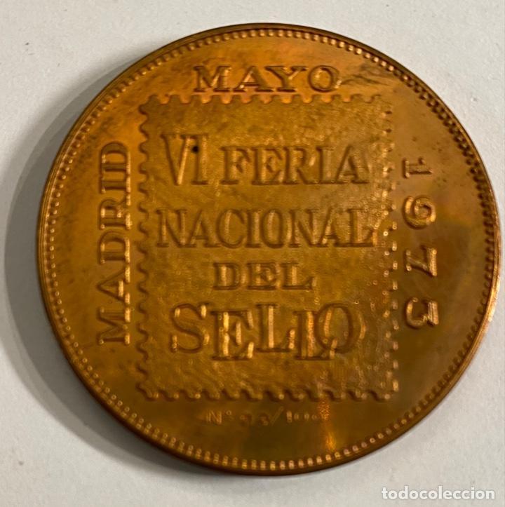 Sellos: Medalla VI Feria Nacional del Sello 1973 - Foto 2 - 236303540