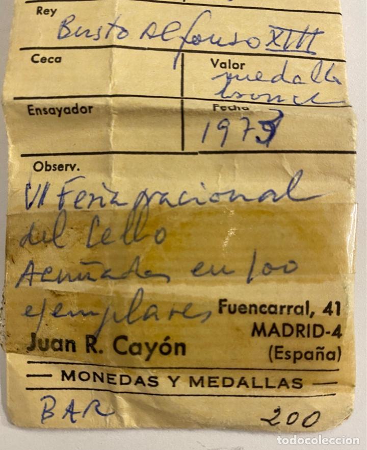 Sellos: Medalla VI Feria Nacional del Sello 1973 - Foto 3 - 236303540