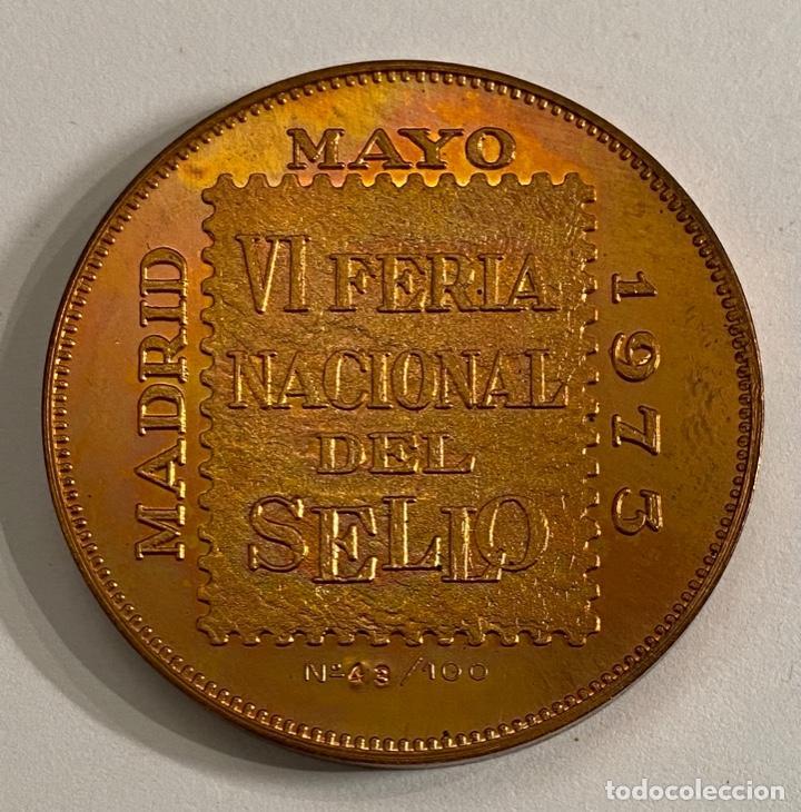 Sellos: Medalla VI Feria Nacional del Sello 1973 - Foto 2 - 236304540