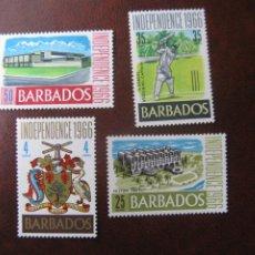 Sellos: BARBADOS, 1966, INDEPENDENCIA, YVERT 263/66. Lote 236320005