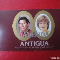 Sellos: *BARBUDA,1981,CARNÉ CONMEMORATIVO DEL ENLACE DEL PRINCIPE CARLOS Y LADY DIANA, VER DESCRIPCION. Lote 236330855