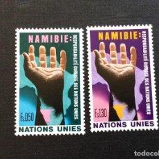 Sellos: NACIONES UNIDAS GINEBRA Nº YVERT 52/3*** AÑO 1975. NAMIBIA,RESPONSABILIDAD DE NACIONES UNIDAS. Lote 236837515