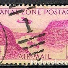 Sellos: ZONA DEL CANAL DE PANAMA Nº 84 (AÑO 1.931), LA ZANJA DE GAILLARD. AÉREOS, USADO. Lote 237718035