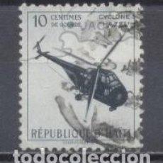 Sellos: HAITI, USADO, ELICOPTERO. Lote 239485115