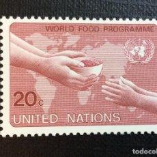 Sellos: NACIONES UNIDAS NUEVA YORK Nº YVERT 387*** AÑO 1983. PROGRAMA ALIMENTARIO MUNDIAL. Lote 241550570