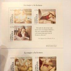 Sellos: ESPAÑA H.B.LA MUJER Y LA LECTURA. 2004. MNH**. Lote 241973075