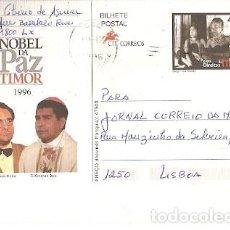 Sellos: PORTUGAL & INTERO, TIMOR, PREMIO NOBEL DE LA PAZ, JOSÉ HORTA Y XIMÉNES BELO, LISBOA 1996 (87). Lote 242144910