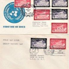 Sellos: NACIONES UNIDAS OFICINA DE NUEVA YORK 1954.. Lote 242260740