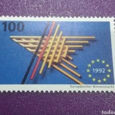 Sellos: SELLO ALEMANIA R. FEDERAL NUEVOS/1992/MERCADO/UNICO/EUROPEO/BANDERA/ESTRELLA/. Lote 242398625