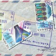 Sellos: 1971. NICARAGUA. SOBRE CIRCULADO. FRANQUEO DIVERSO. DEPORTES. FÚTBOL. PELÉ. MATEMÁTICAS. VER FOTOS.. Lote 242908565