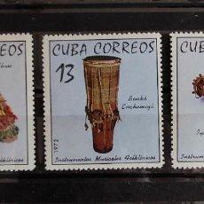 Sellos: CUBA-INSTRUMENTOS MUSICALES-MICHEL 18166/18 SERIE COMPLETAQ NUEVA SIN SEÑAL DE CHARNELA. Lote 243174005