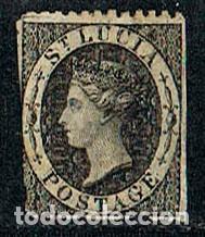SANTA LUCIA, 7 (AÑO 1864), LA REINA VICTORIA, USADO (Sellos - Extranjero - América - Otros paises)