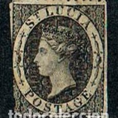 Sellos: SANTA LUCIA, 7 (AÑO 1864), LA REINA VICTORIA, USADO. Lote 244562465