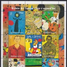 Sellos: F-EX21993 SOMALIA MNH 1998 SHEET PAINTING ART JOAN MIRO.. Lote 244622220