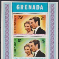 Sellos: F-EX22658 GRENADA MNH 1973 SHEET ROYAL WEDDING ANNE. Lote 244622225