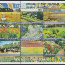 Sellos: F-EX22004 MADAGASCAR MNH 2001 SHEET PAINTING ART USA US IMPRESIONISTS. Lote 244622245