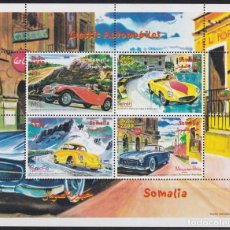 Sellos: F-EX22002 SOMALIA MNH 2000 PAINTING ART OLD CAR MERCEDES BENZ PORSCHE FERRARI.. Lote 244622250