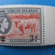 Timbres: -ISLAS VIRGENES, 1962, SELLO SOBRECARGADO YVERT 128. Lote 244737405