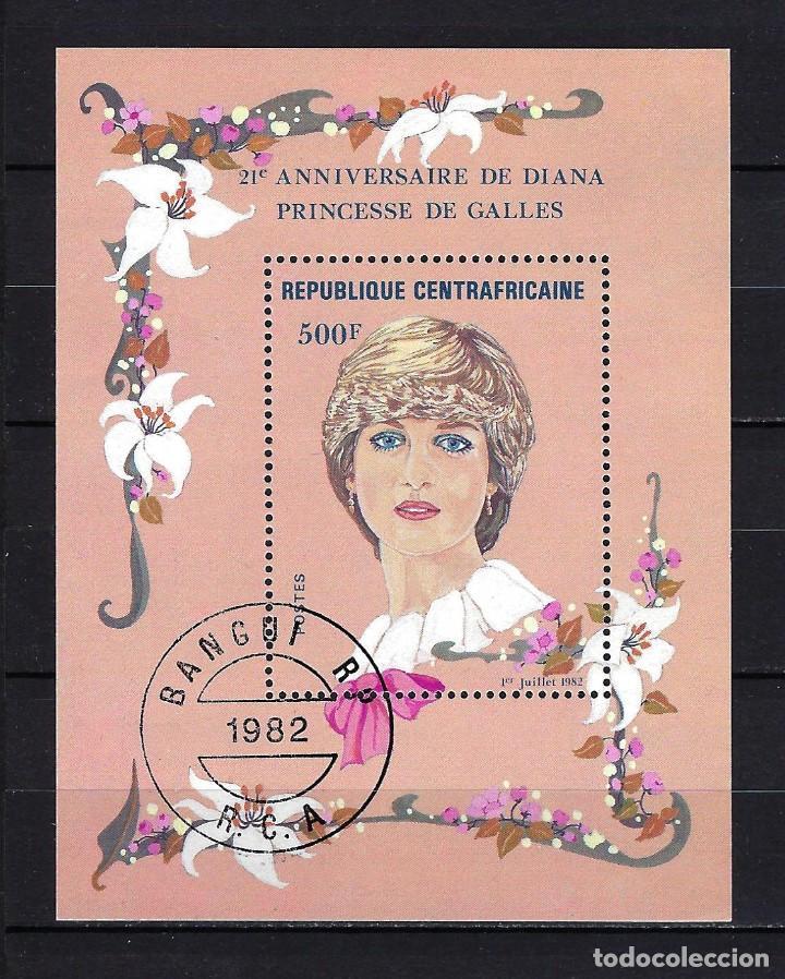 1982 REPÚBLICA CENTROAFRICANA YVERT HB 56 HOJA BLOQUE 21 ANIVERSARIO PRINCESA DE GALES LADY DI (Sellos - Temáticas - Varias)