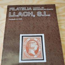 Sellos: CATALOGO SELLOS FILATELIA LLACH JUNIO 1996 88 PAG TAPA BLANDA. Lote 245433805