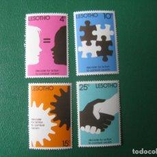 Sellos: LESOTHO, 1977, LUCHA CONTRA EL RACISMO, YVERT 343/6. Lote 245463970