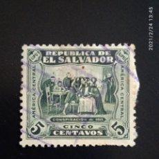 Sellos: EL SALVADOR 5 CENTS CONSPIRACION, AÑO 1932.. Lote 245952230