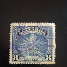 Sellos: EL SALVADOR 8 CENTS, FLOR DE IZOTE AÑO 1938.. Lote 245956030