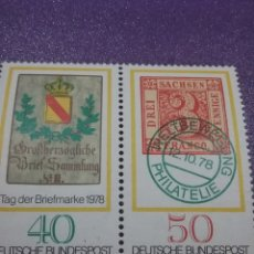 Sellos: SELLO ALEMANIA R. FEDERAL NUEVOS/1978/DIA/SELLO/ESCUDO/POSTAL/PRIMER/SELLO/SAJONIA/LAUREL/CORONA/NUM. Lote 246289935