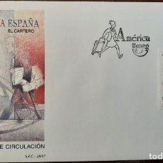 Sellos: MATASELLOS PRIMER DÍA. ESPAÑA 1997. AMÉRICA ESPAÑA EL CARTERO UPAEP. Lote 249237985