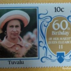 Timbres: TUVALU 1986 60 TH BIRTHDAY QUEEN ELIZABETH II***MNH.. Lote 250246505