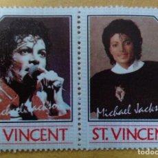 Timbres: ST. VINCENT - SELLOS LEYENDAS DE LA MUSICA- MICHAEL JACKSON **MNH. Lote 253493160