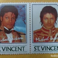 Timbres: ST. VINCENT - SELLOS LEYENDAS DE LA MUSICA- MICHAEL JACKSON **MNH. Lote 253495000