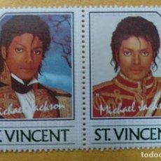 Timbres: ST. VINCENT - SELLOS LEYENDAS DE LA MUSICA- MICHAEL JACKSON **MNH. Lote 253495170