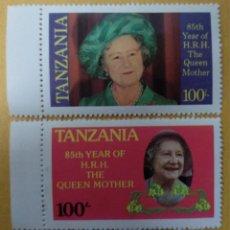 Sellos: TANZANIA / COL. BRITÁNICA - 85º ANIV. DE LA REINA MADRE, - SELLOS NUEVOS **. Lote 253727690