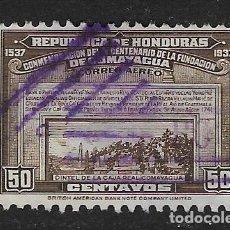 Sellos: HONDURAS - AÉREO CLÁSICO. YVERT Nº 83 USADO Y DEFECTUOSO. Lote 254292995