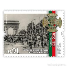 Sellos: PORTUGAL ** & CENTENARIO DE LA LIGA DE COMBATIENTES, DESFILE DE LA VICTORIA EN PARÍS 192 2021 (8679. Lote 254914860
