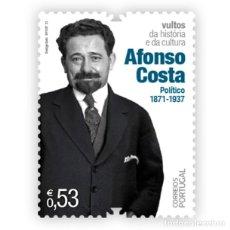 Sellos: PORTUGAL & ** FIGURAS DE LA CULTURA PORTUGUESA, 1871-1937 AFONSO COSTA, POLITICO 2021 (76588). Lote 254981030