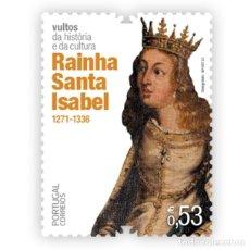 Sellos: PORTUGAL & ** FIGURAS DE LA CULTURA PORTUGUESA, 1271-1336 REINA SANTA ISABEL 2021 (76588). Lote 254982600